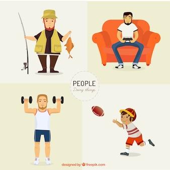 As pessoas que fazem atividades