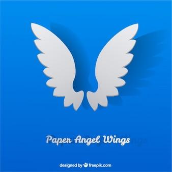 Asas de anjo de papel