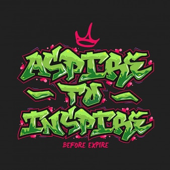 Aspire To Inspire Typography Design