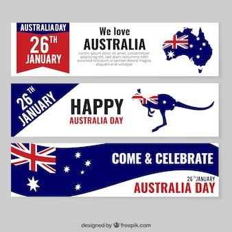 Austrália pacote Bandeiras do dia