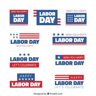 Autocolantes americanos estabelecidos do dia de trabalho