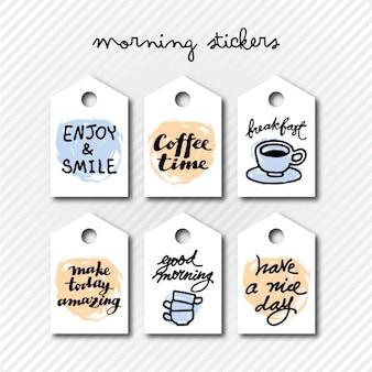 autocolantes manhã