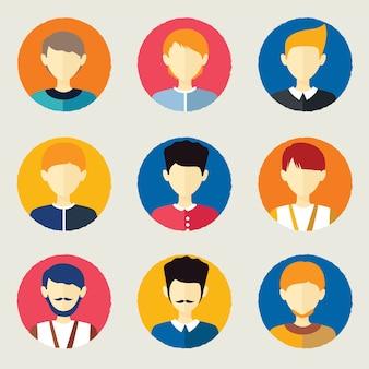 Avatares das pessoas
