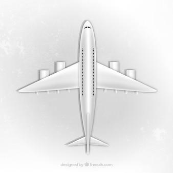 Avião vista superior