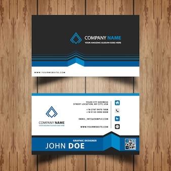 Azul cartão de visita profissional