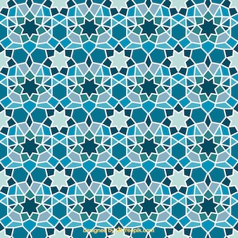 Azul geométrico abstrato do mosaico