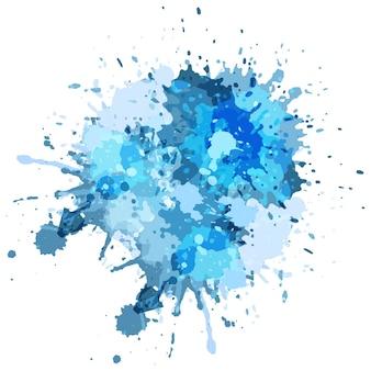 Azul, grunge, respingo, fundo