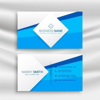 Azul modelo de cartão de negócios corporativos
