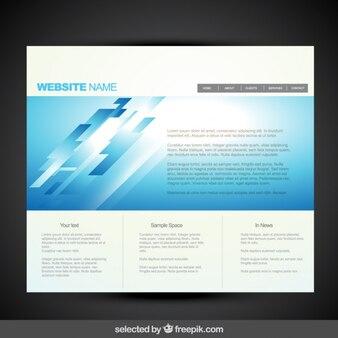 Azul moderno modelo de site