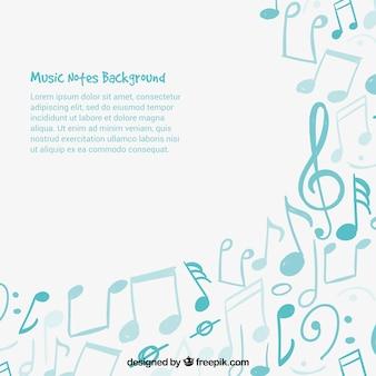Azul, música, notas, fundo