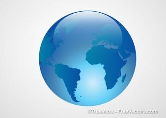 Azul transparente ícone terra