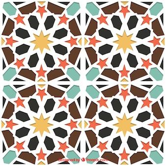 Azulejo padrão geométrico árabe