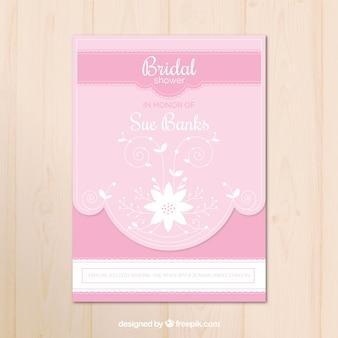 Bachelorette vintage em tons de rosa
