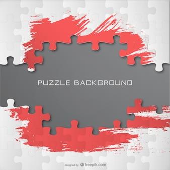 Backgroud quebra-cabeça livre template tinta vermelha