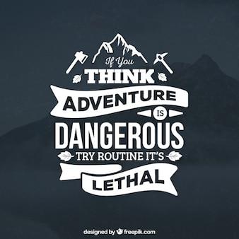 Badge aventura