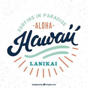Badge havaiano retro do surf