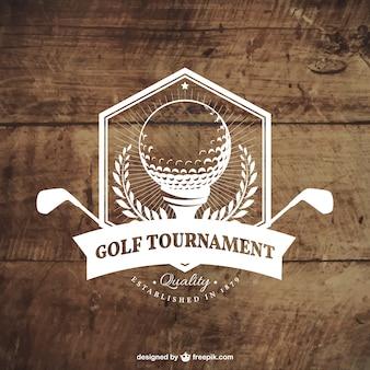 Badge torneio de golfe