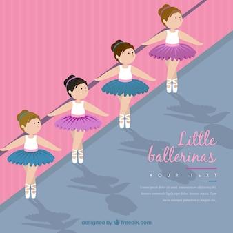 Bailarinas pequenas na classe de ballet