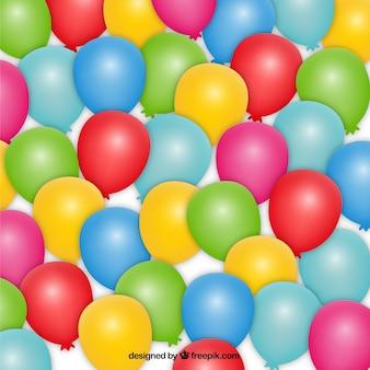 Balão colorido do partido fundo
