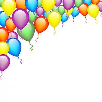 Balões das cores de fundo