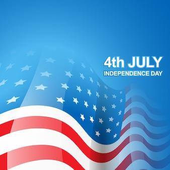 Bandeira americana bonita do vetor do dia da independência