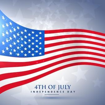 bandeira americana no estilo de onda