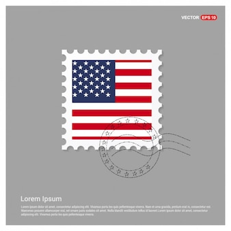 Bandeira americana Template Stamp