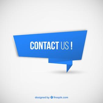 Bandeira azul com texto entre em contato conosco