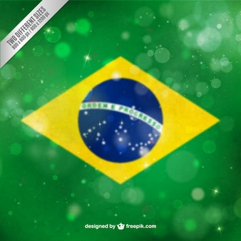 Bandeira brasileira bokeh de fundo