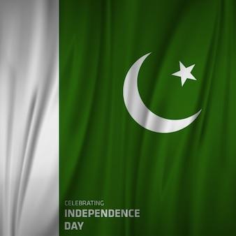 Bandeira de ondulação de Paquistão