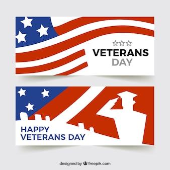 Bandeira do dia dos veteranos com design da bandeira