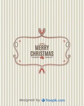 Bandeira Feliz Natal com fundo listrado