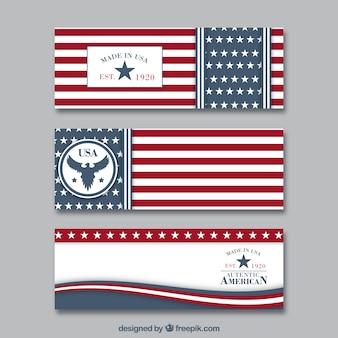 Bandeiras americanas embalar
