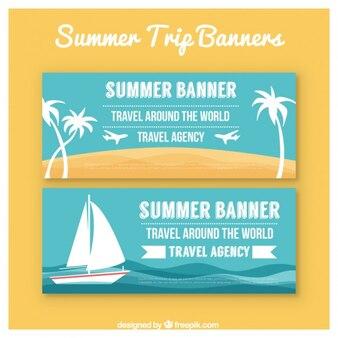 bandeiras azuis de férias de verão