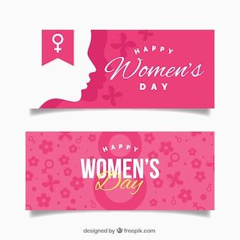 Bandeiras do dia da mulher feliz