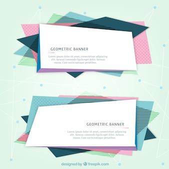 Bandeiras do Web site geométricas