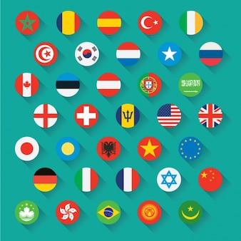 Bandeiras ícones