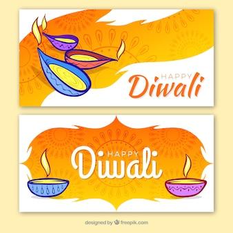 Banner criativo de diwali