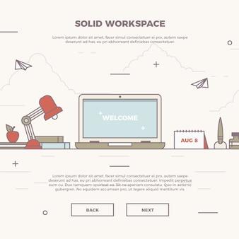 Banner de espaço de trabalho plano