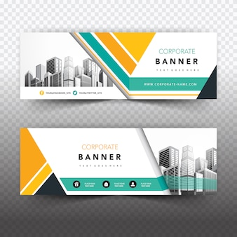 Banner empresarial criativo