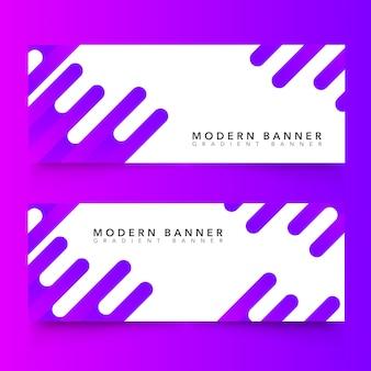 Banners abstratos modernos