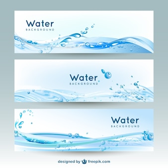 Banners Água fundos