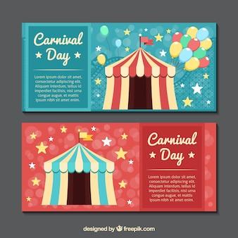 Banners circo estilo vintage