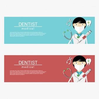 banners coloridos dentista