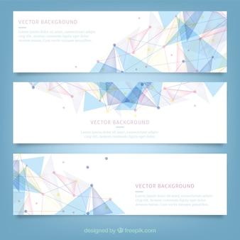 Banners com design poligonal