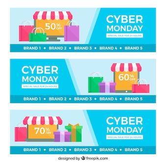 Banners Cyber-monday com loja