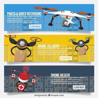 Banners de drone modernos