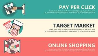 Banners de finanças da Internet