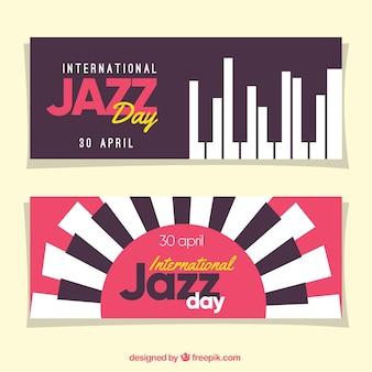 Banners de jazz com teclado
