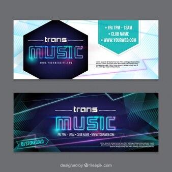 Banners de música abstrato moderno
